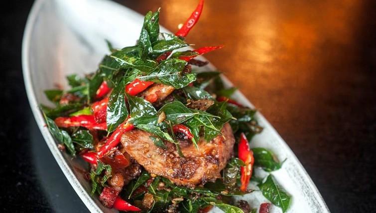 crispy fish dish served at Sarong restaurant in Bali