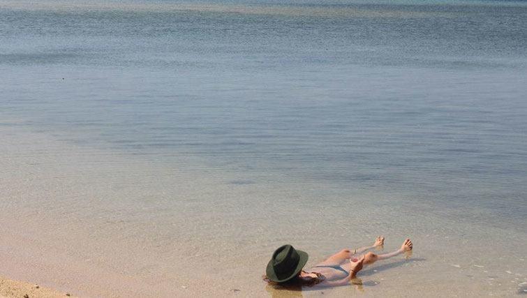 swimming in the Bali Strait