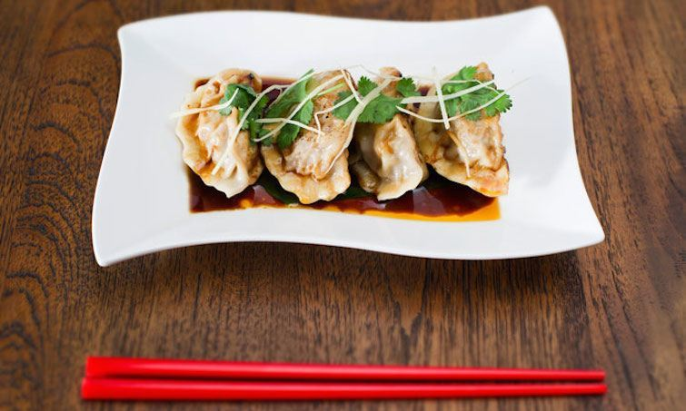 beef and bamboo dumplings
