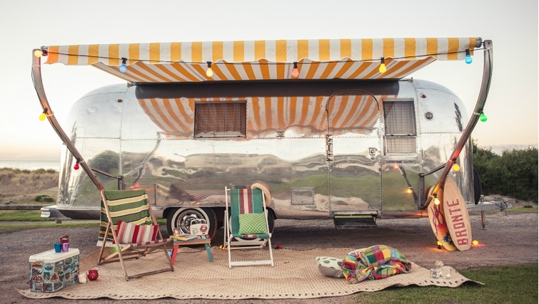 glamping in airstreams