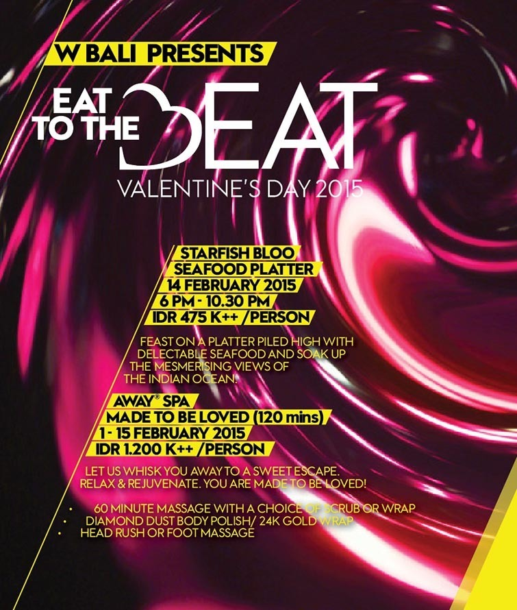 Eat to the Beat, W Bali flyer.