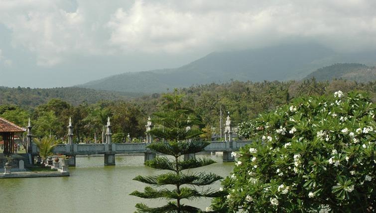 Taman Ujung, the coastal water palace hillside.