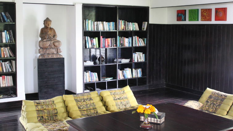 The library at Zen Resort in North Bali