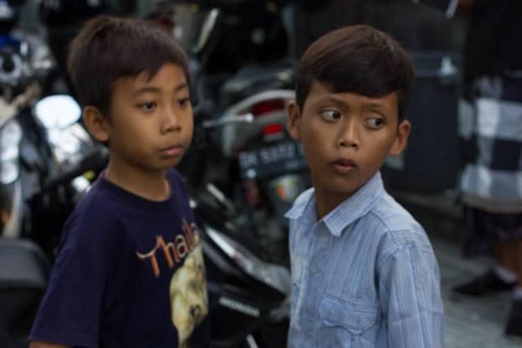Kids during Ogoh-Ogoh ceremony Bali