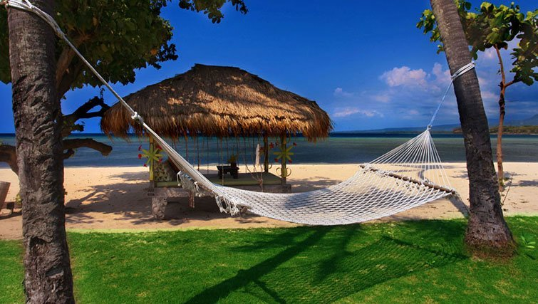 Lombok Island hammock and beach