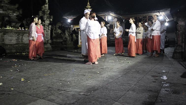 purification ceremony in Ubud