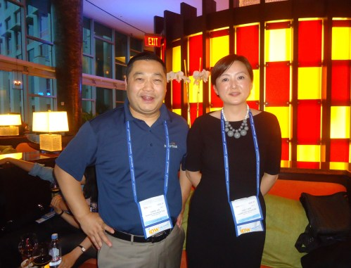 Also enjoying the NYC & Co. party are: Danny Lin, president, Amerilink International Corp., and Jacky Zhu, from the Shanghai offices of AVIAREPS, which represents NYC & Co. in China.
