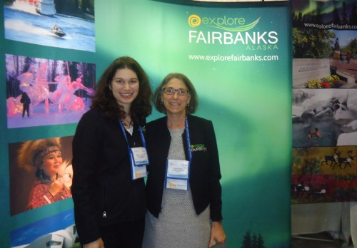 Deb Hickok (right) president and CEO of Explore Fairbanks, with tourism sales manager, Ashley Ritenour.