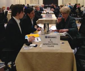 Nancy Hahn-Bono, Visit Orlando meeting with Brook Blanchard and Claudio Liondi, H.I.S. International Tours (New York) Inc.)