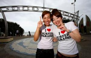 Japanese tourists such as Makiko Umezawa and Seri Fujisawa are becoming increasingly rare on the Gold Coast.