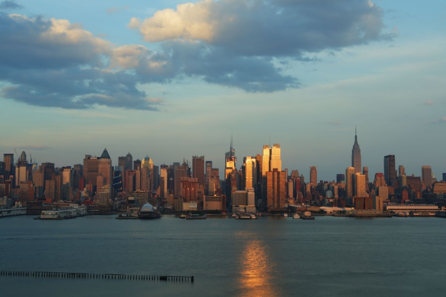 Timelapse Sunset Skyline from Weehawken