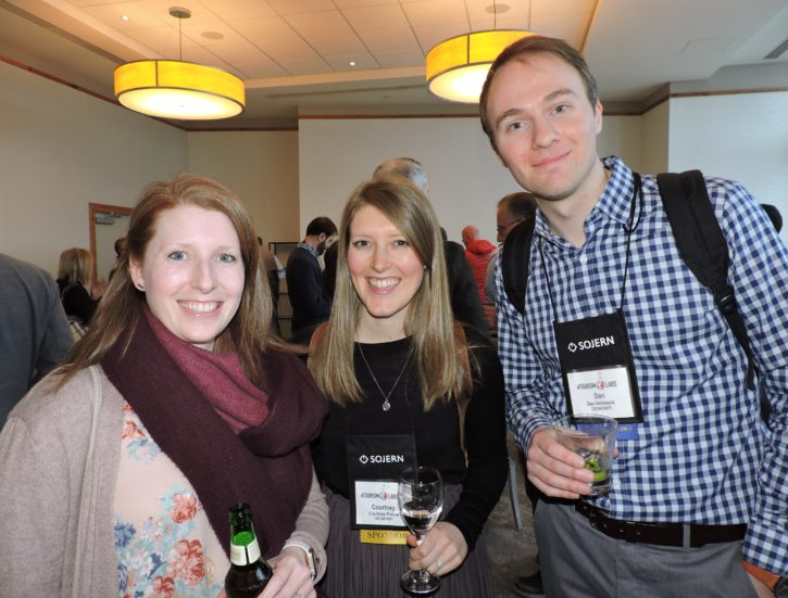 (Left to right) Sara Rolsman, Visit Lake County (Illinois); Courtney Ristow, senior account executive, Crowdriff; and Dan Holowack, CEO Crowdriff