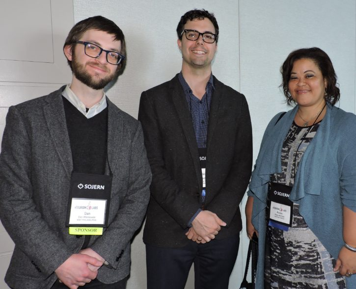 (Left to right) Dan Wisniewski, senior editor, digital content, Visit Philadelphia; Andrew O'Connor, senior manager content marketing, Destination DC; and Robin A. McClain, vice president, marketing and communications, Destination DC