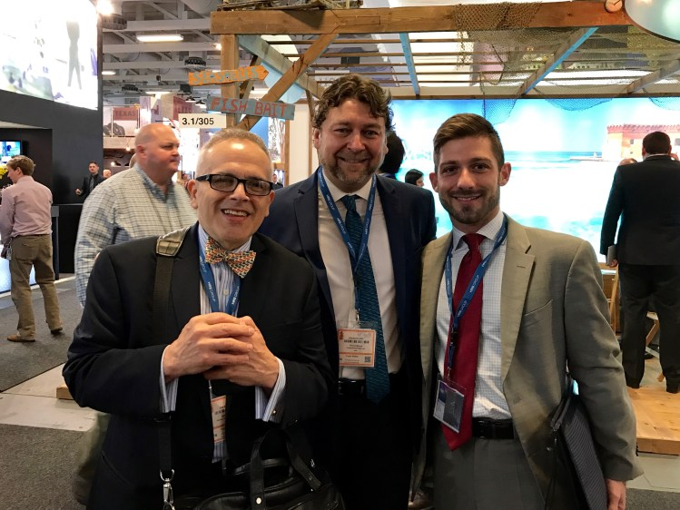 Richard Yaeger, The Hotel Source; Thomas Marcial, Travel Technology Consultants; and Nuno Costa, AARIUS International, Inc.