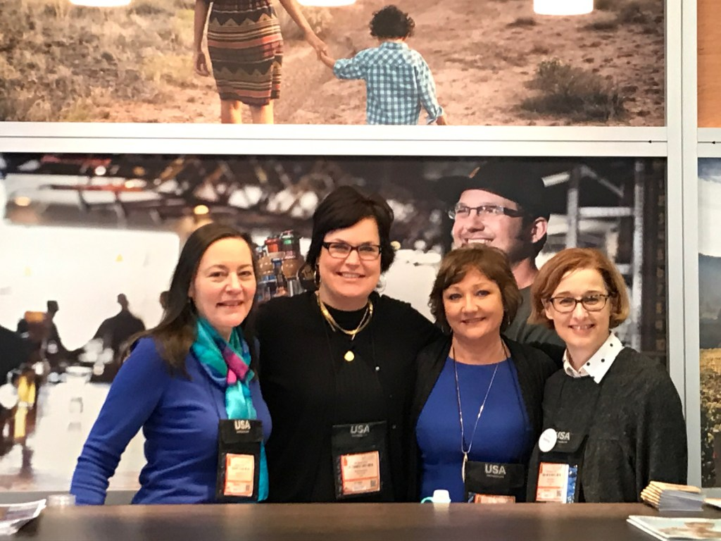 Karen Viehoever, Travel Portland; Petra Hackworth, Travel Oregon; Billie Moser, Travel Portland;  - Lorna Davis, Newport (Oregon) Chamber of Commerce
