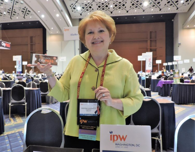 Deborah Wakefield, vice president of communications and public relations, CityPASS, which sponsors the International Media Markeplace at !PW.