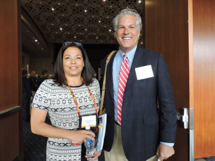 Nan Marchand Beauvois, vice president, national councils, general manager, ESTO and managing director, Meetings Mean Business Coalition, U.S. Travel Association; and Mark Newman, Indiana state tourism director.