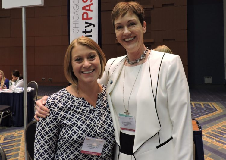 Julie L. Gilbert (right), vice president of marketing and brand management, Destination Niagara USA; and Andrea Czopp, director of communications, Destination Niagara USA.