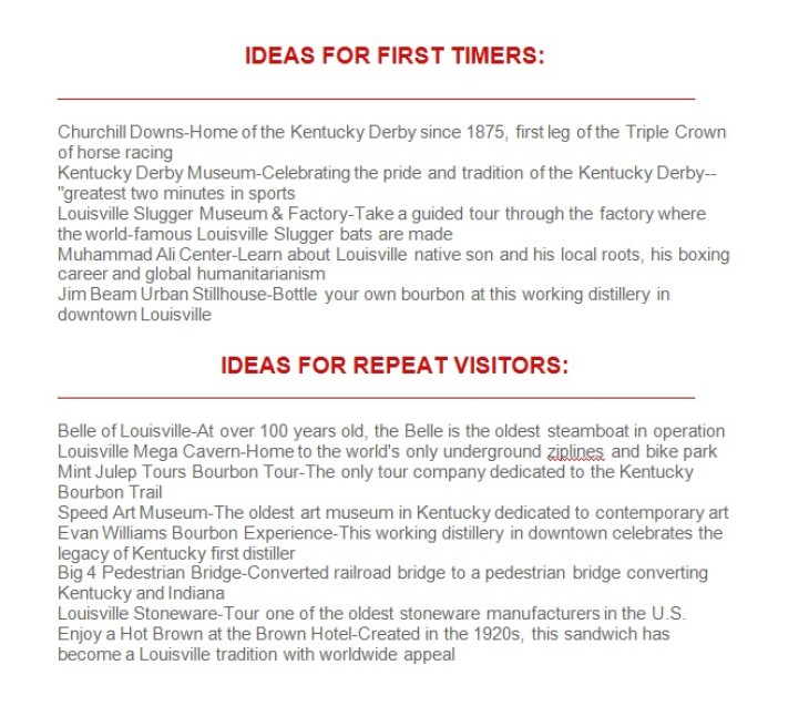 Louisville ideas