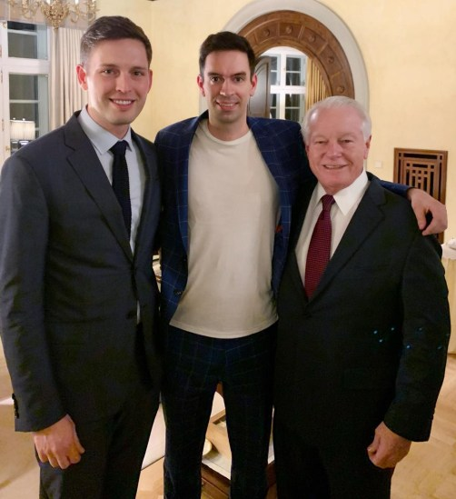 (L-R): Nick Hentschel; Timo Kohlenberg, president & CEO, America Unlimited; and Roger Dow
