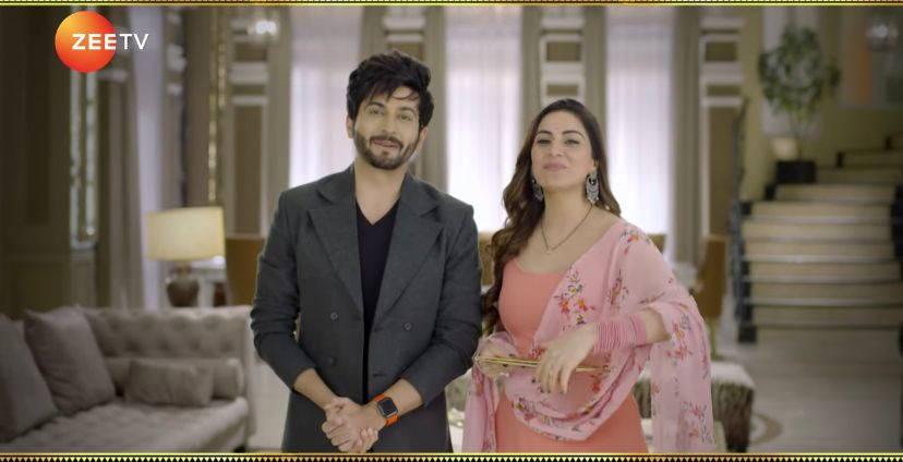 Dheeraj Dhoopar and Shraddha Arya on Zee TV's Bhagya Lakshmi