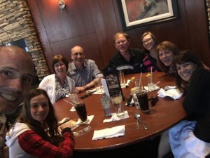Dinner with Stripling and Anderson Families