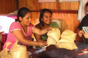 Rice for families at Elim in Peru