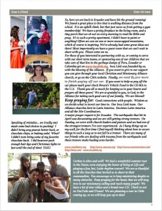 Brown family newsletter, pg 2