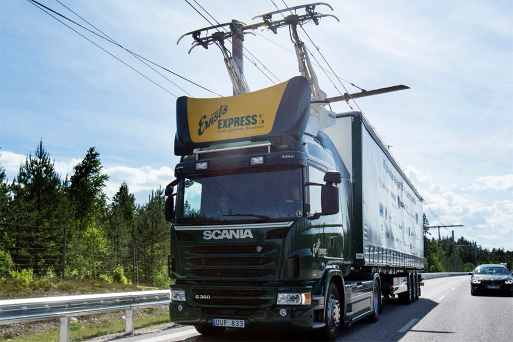 Germany has started testing its first eHighway for trucks