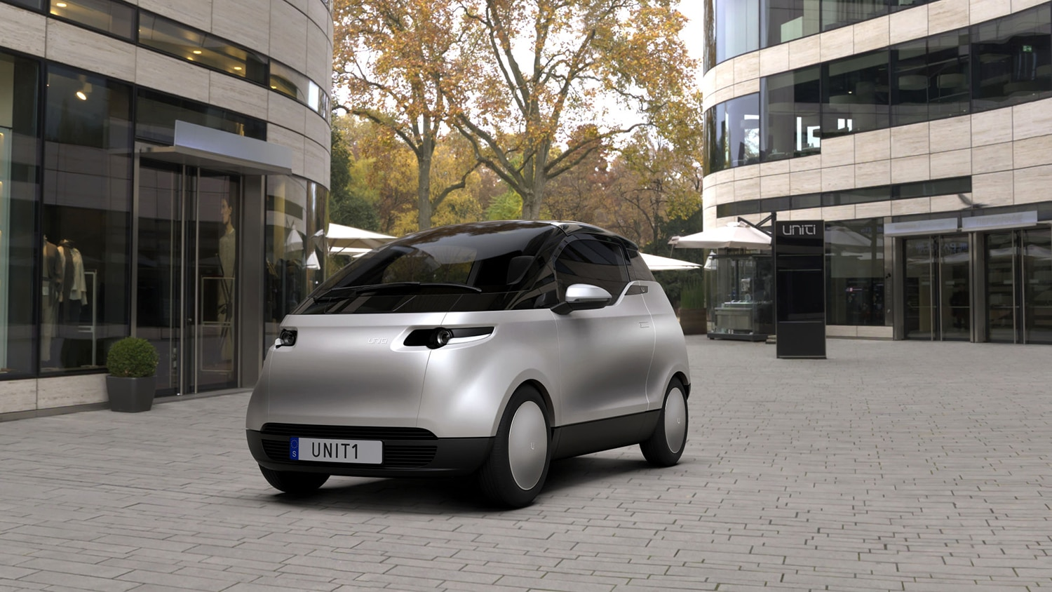 Uniti One, the compact three-seater city car on the market