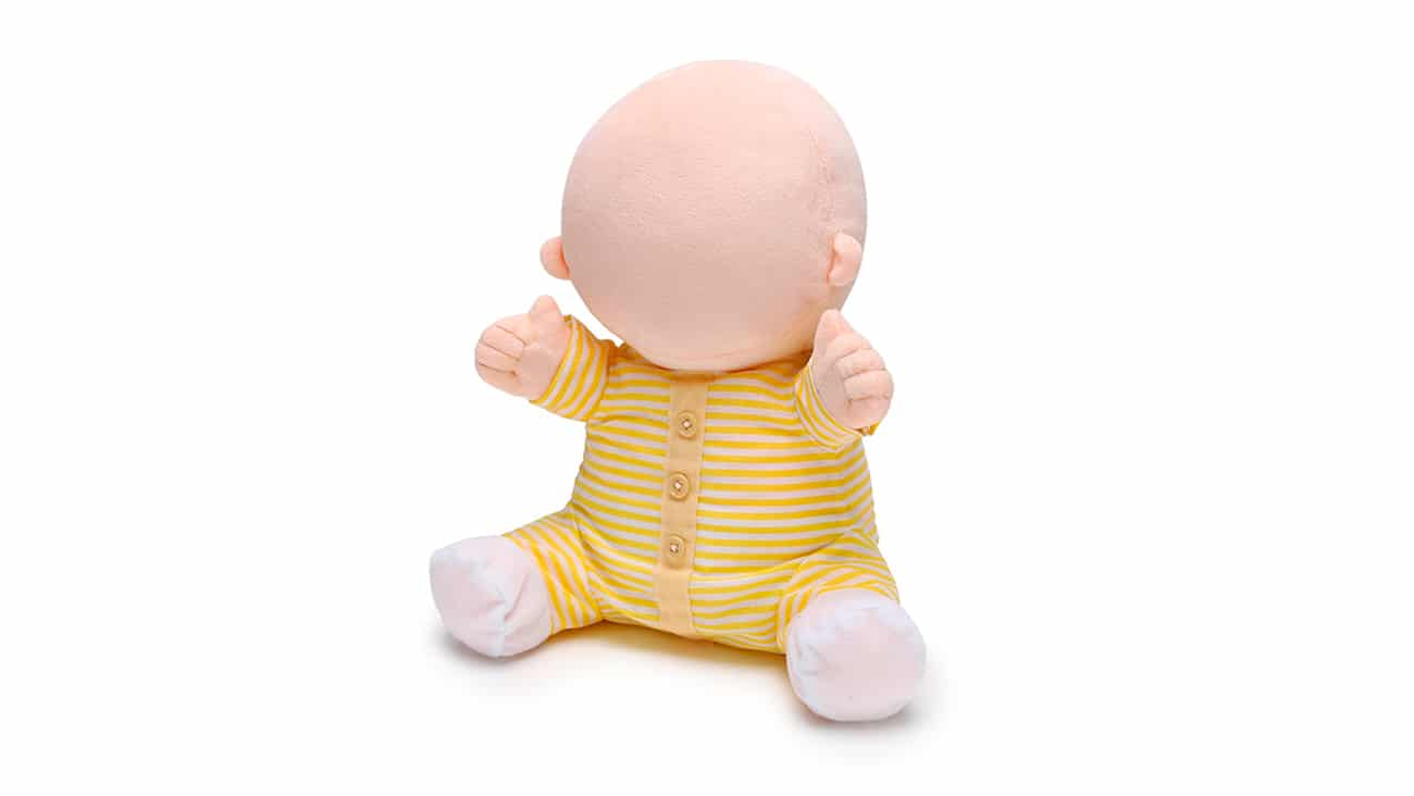 Hiro-Chan, the faceless robot baby for therapeutic purposes