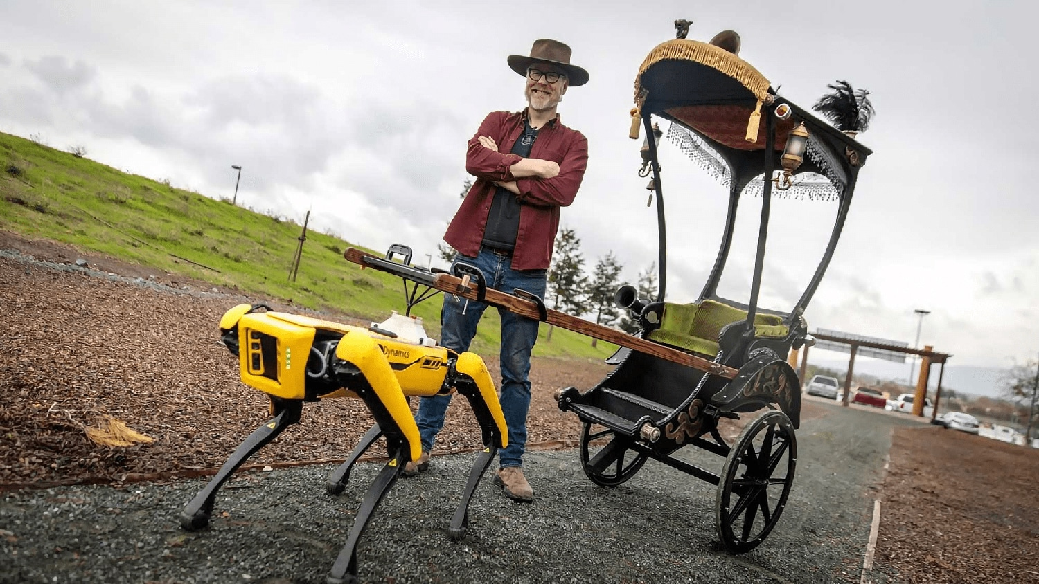 Adam Savage has a new horse for his rickshaw
