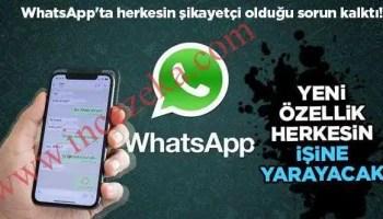 Whatsapp beklenen özelliği yakında geliyor