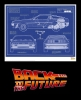 Back to the Future Art Print Blue Print