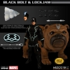 Mezco: Black Bolt & Light-Up Lockjaw 1/12 Figures