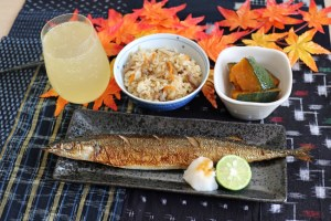 Japanese Autumn Foods (Saury)