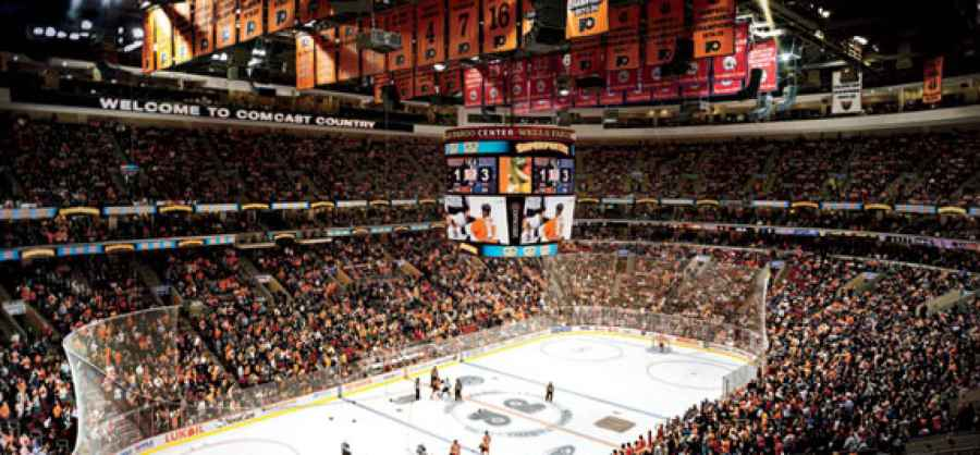 The Business of a Hockey Game at the Wells Fargo Center in     The Business of a Hockey Game at the Wells Fargo Center in Philadelphia    Inc com