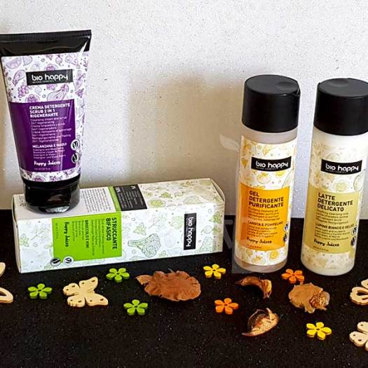 Prodotti per la detersione e skincare Bio happy