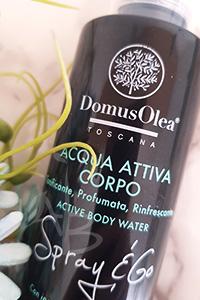 Dettaglio packaging acqua attiva corpo