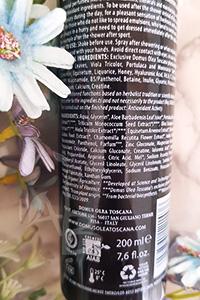 Composizione acqua attiva Domus olea toscana