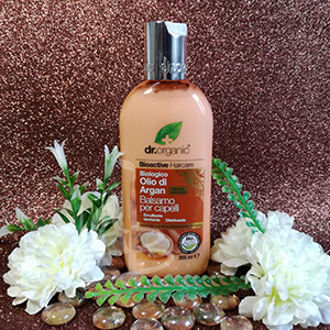 Packaging del balsamo di Dr. Organic argan