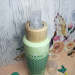 Particolare del packaging del siero capelli Gyada