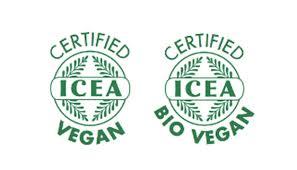 Simbolo di ICEA vegan e Bio vegan