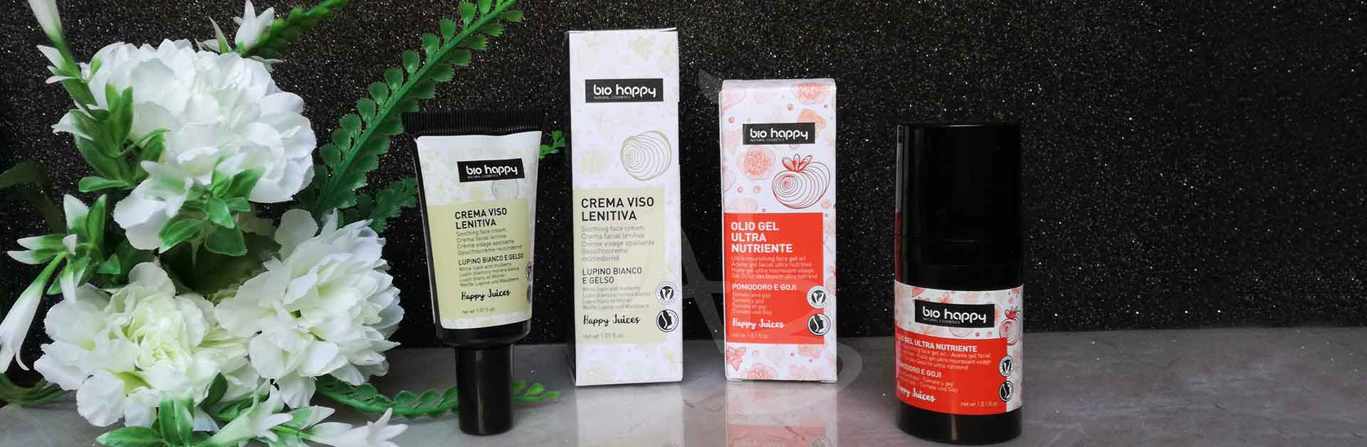 Linea Happy Juice idratazione viso di Bio Happy