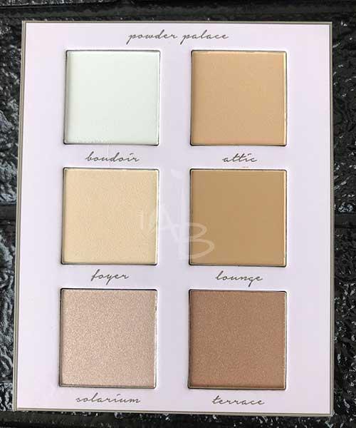 Le 6 shades della Powder Palace Neve Cosmetics