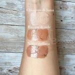 Swatches BT Cream sul braccio di Concetta