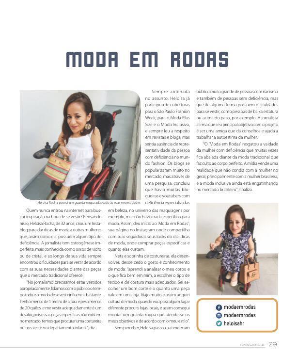 #ModaEmRodas na revista Incluir