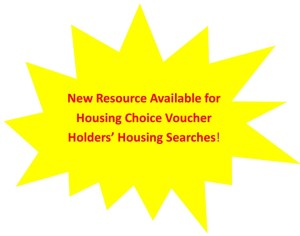 New Resource Available for Housing Choice Voucher Holders' Housing Searches!