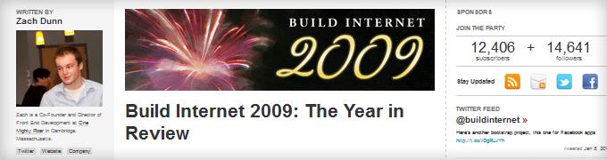 Build Internet 2009