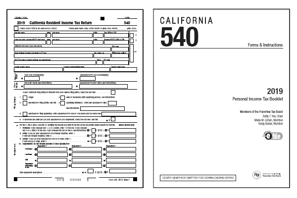 California Tax Forms 540 2ez Table   Review Home Decor